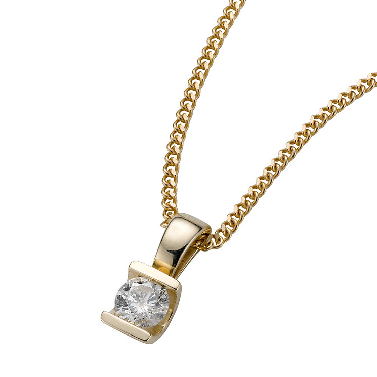 9ct gold quarter carat diamond pendant - Product number 4944550