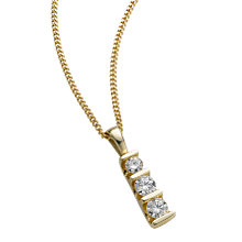 9ct gold 0.50ct diamond bar pendant necklace - Product number 4944569