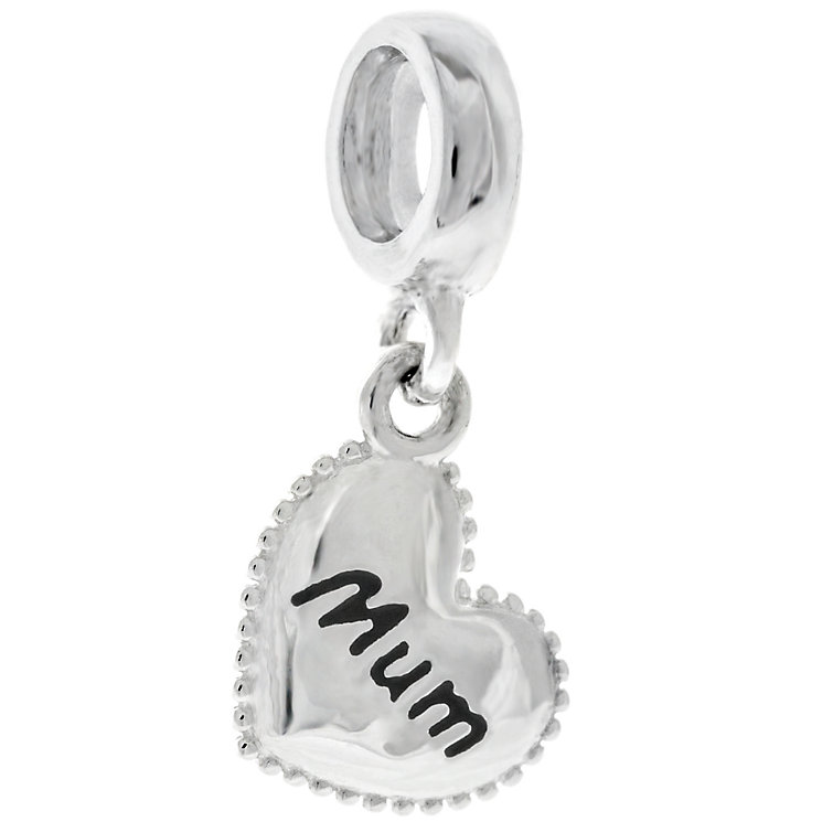 Chamilia Sterling Silver Petite Milgrain Mum Heart Charm - Product number 4944704