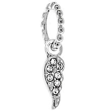 Chamilia Sterling Silver Swarovski Petite Wing Charm Bead - Product number 4944976