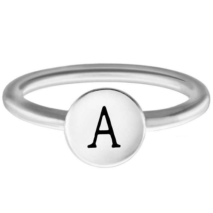 Chamilia Sterling Silver A Alphabet Disc Ring Size R - Product number 4946367