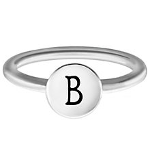 Chamilia Sterling Silver B Alphabet Disc Ring Size L - Product number 4946383