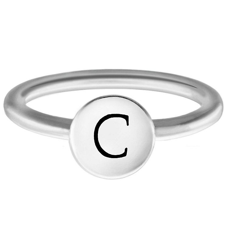 Chamilia Sterling Silver C Alphabet Disc Ring Size J - Product number 4946448