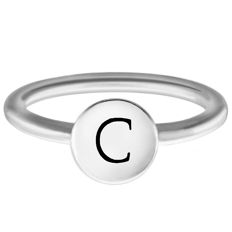 Chamilia Sterling Silver C Alphabet Disc Ring Size R - Product number 4947010