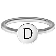 Chamilia Sterling Silver D Alphabet Disc Ring Size J - Product number 4947029