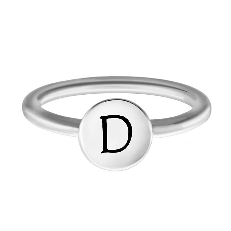 Chamilia Sterling Silver D Alphabet Disc Ring Size L - Product number 4947037