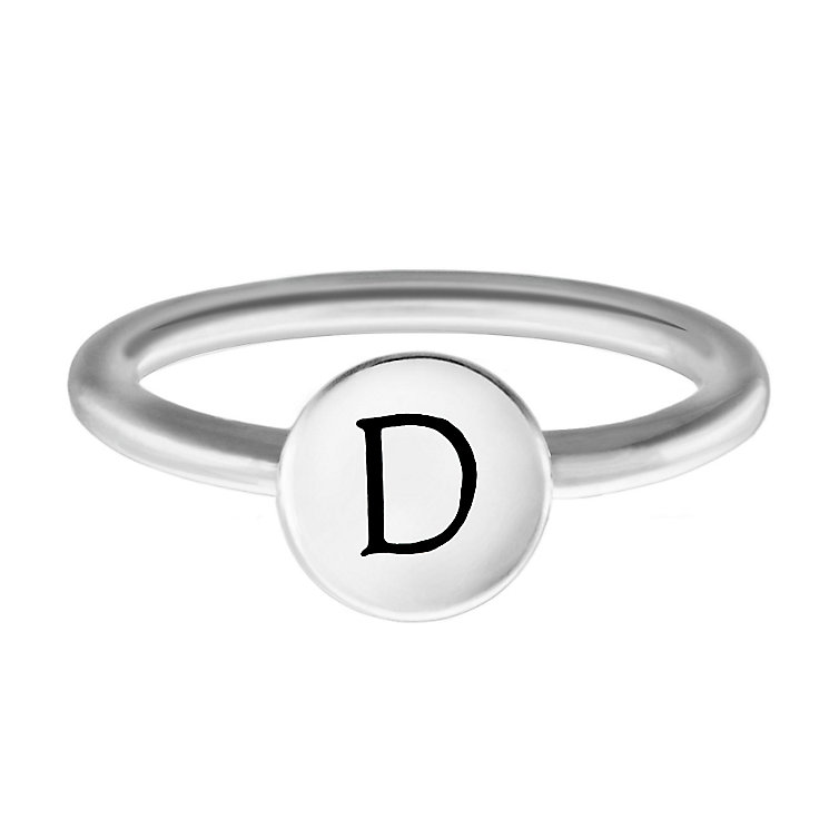 Chamilia Sterling Silver D Alphabet Disc Ring Size P - Product number 4947053