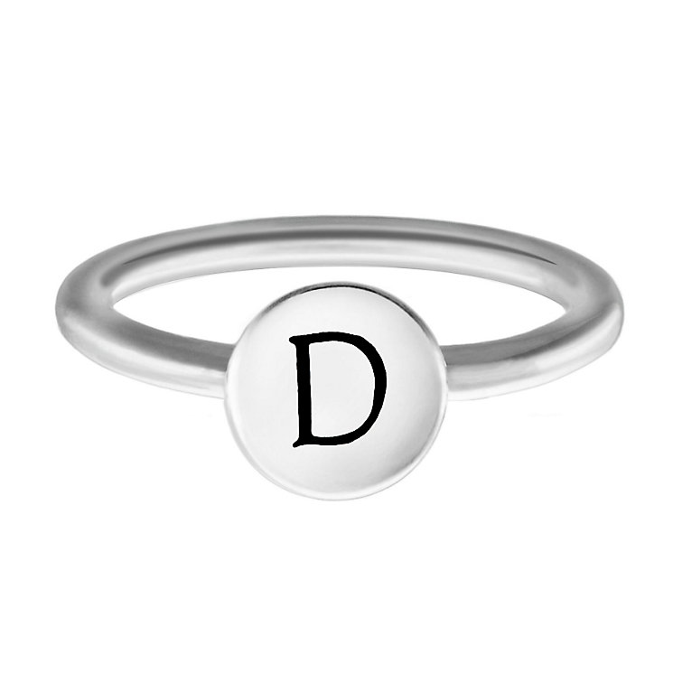 Chamilia Sterling Silver D Alphabet Disc Ring Size R - Product number 4947061