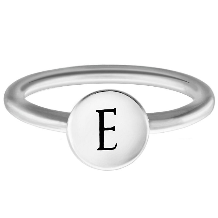 Chamilia Sterling Silver E Alphabet Disc Ring Size P - Product number 4947126