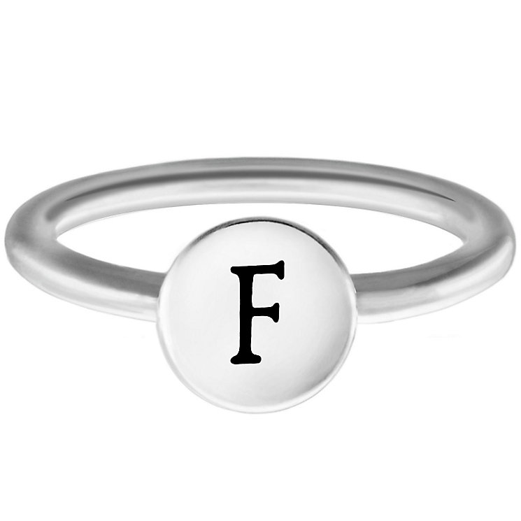 Chamilia Sterling Silver F Alphabet Disc Ring Size L - Product number 4947150