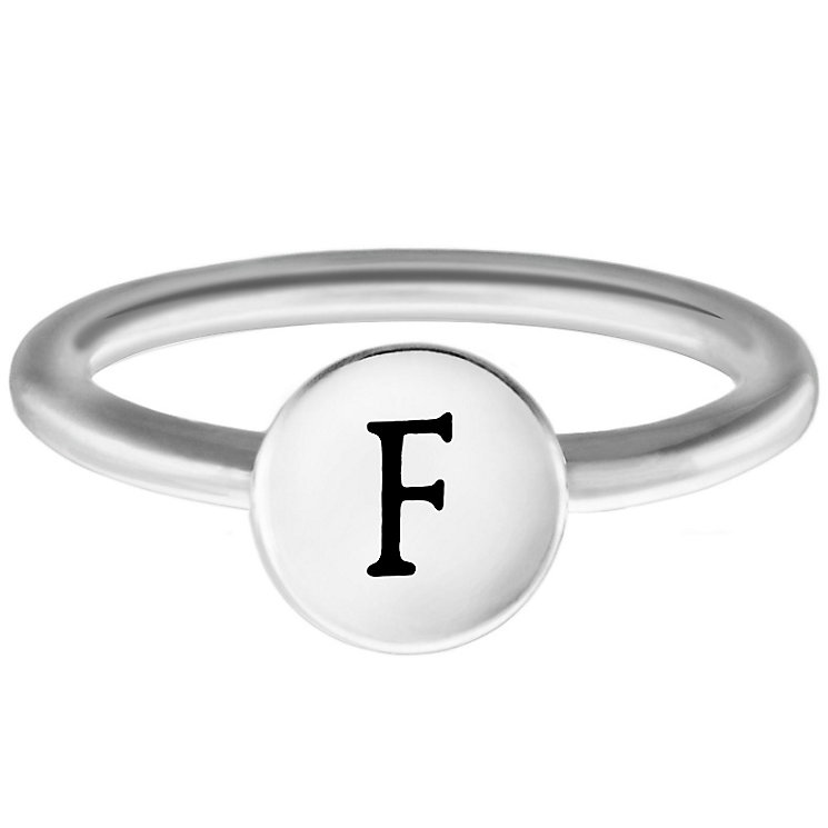 Chamilia Sterling Silver F Alphabet Disc Ring Size N - Product number 4947169