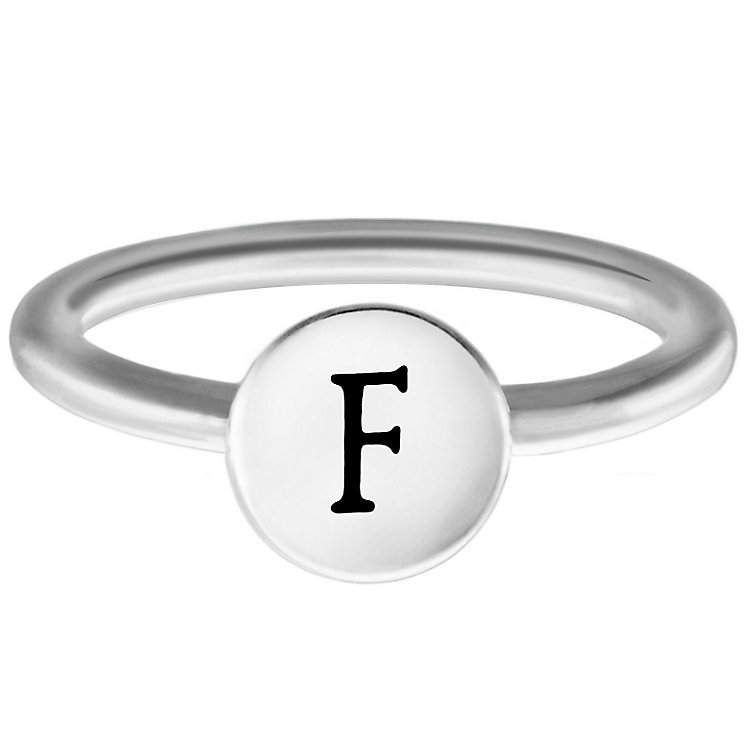 Chamilia Sterling Silver F Alphabet Disc Ring Size R - Product number 4947185