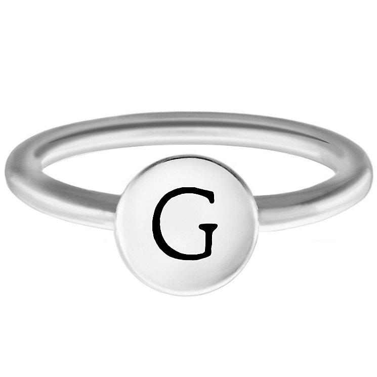 Chamilia Sterling Silver G Alphabet Disc Ring Size J - Product number 4947207