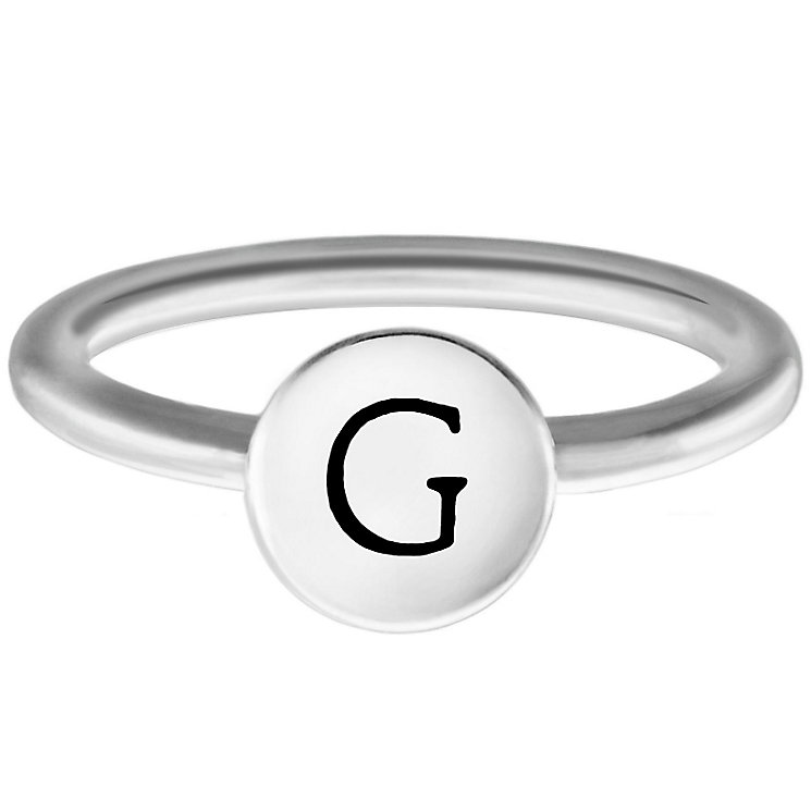 Chamilia Sterling Silver G Alphabet Disc Ring Size L - Product number 4947258