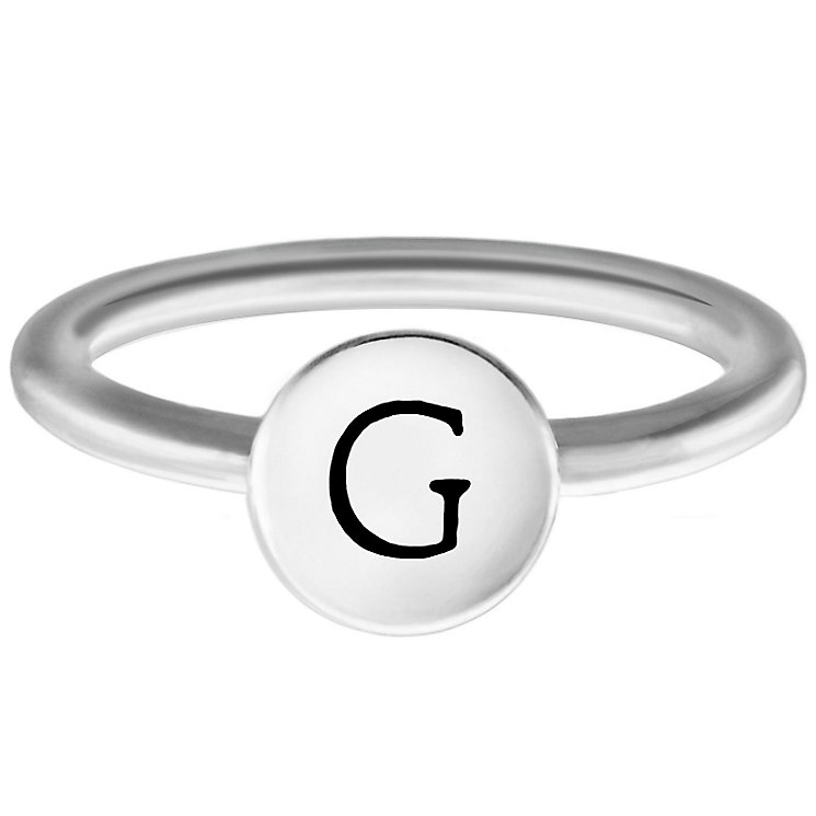 Chamilia Sterling Silver G Alphabet Disc Ring Size N - Product number 4947304