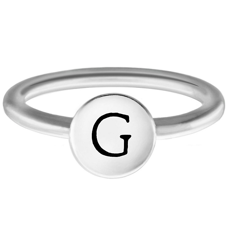 Chamilia Sterling Silver G Alphabet Disc Ring Size P - Product number 4947339