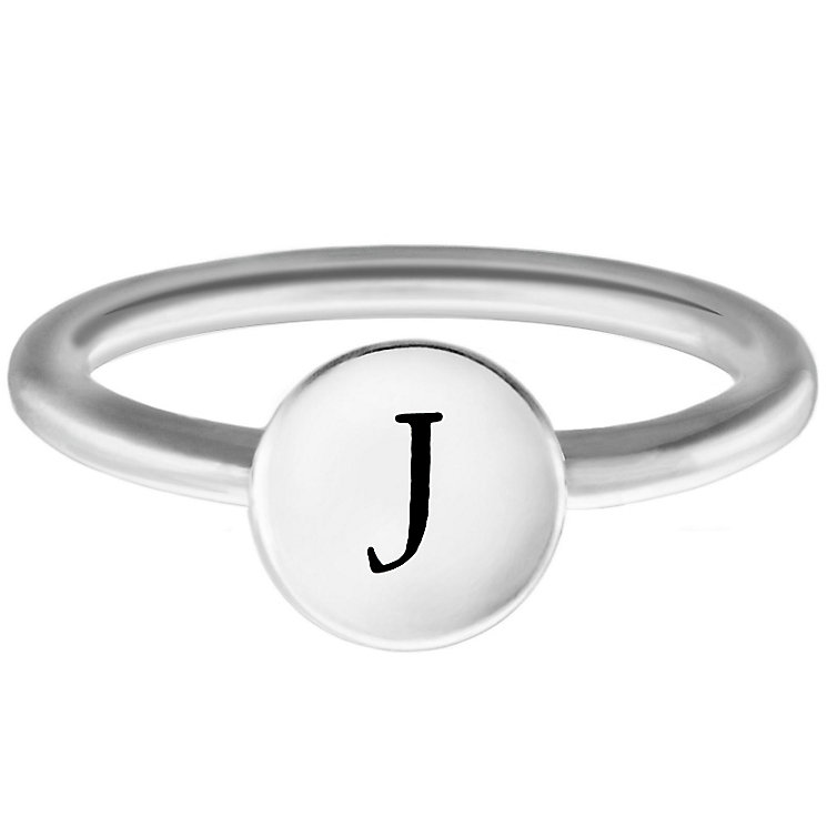 Chamilia Sterling Silver J Alphabet Disc Ring Size J - Product number 4947584