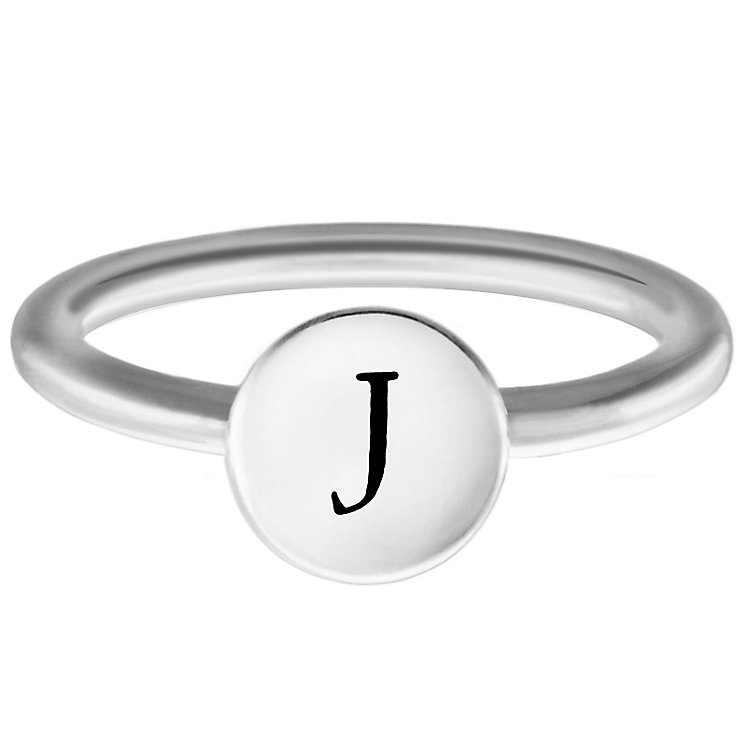 Chamilia Sterling Silver J Alphabet Disc Ring Size L - Product number 4947592