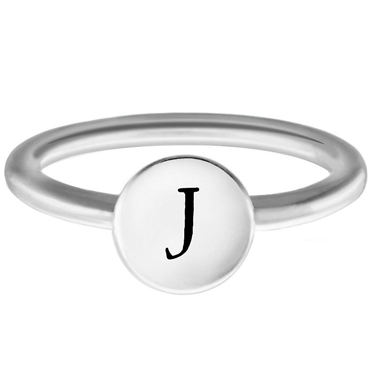 Chamilia Sterling Silver J Alphabet Disc Ring Size R - Product number 4947622