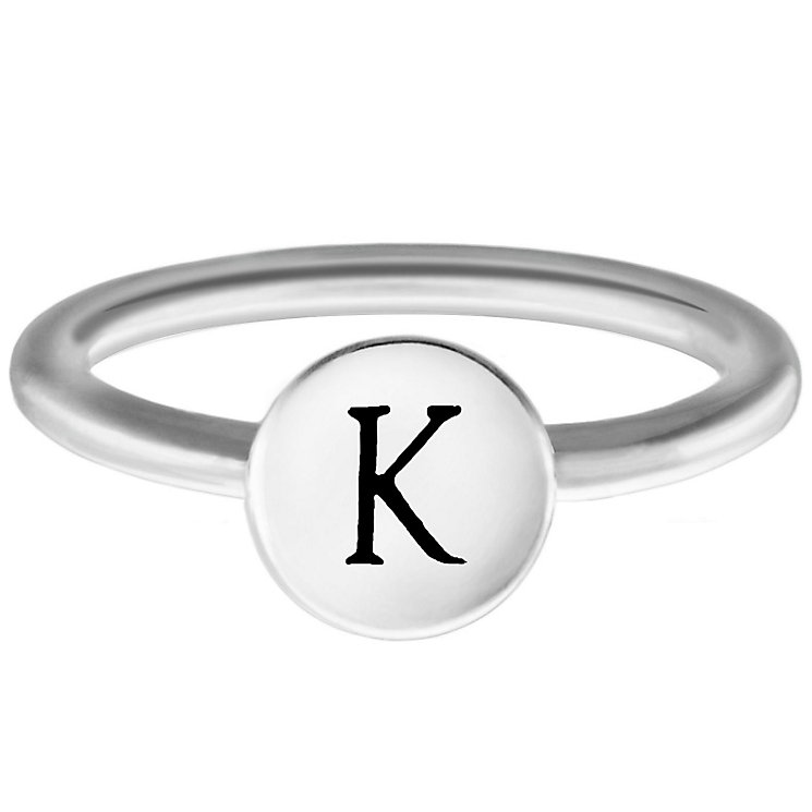 Chamilia Sterling Silver K Alphabet Disc Ring Size N - Product number 4947797