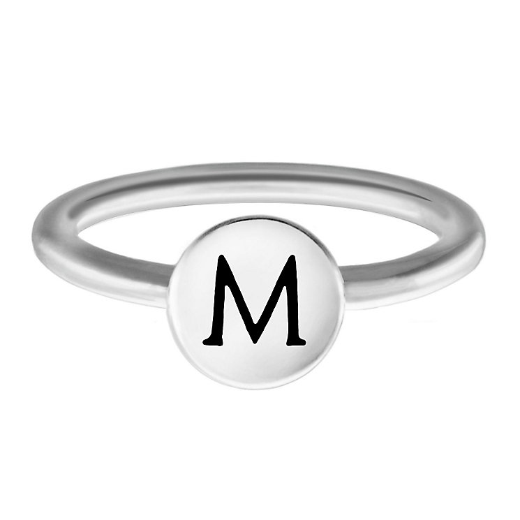 Chamilia Sterling Silver M Alphabet Disc Ring Size L - Product number 4947894