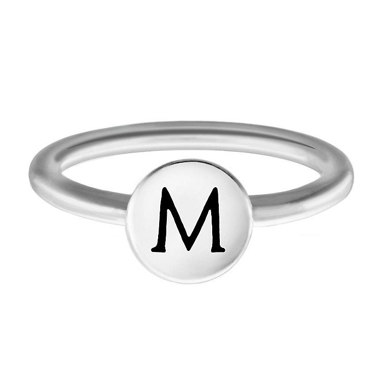 Chamilia Sterling Silver M Alphabet Disc Ring Size N - Product number 4947908