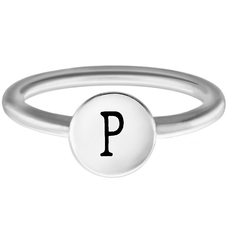 Chamilia Sterling Silver P Alphabet Disc Ring Size P - Product number 4948882