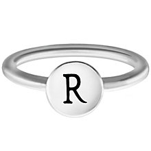 Chamilia Sterling Silver R Alphabet Disc Ring Size L - Product number 4948971