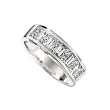 18ct white gold one carat diamond ring - Product number 4948998