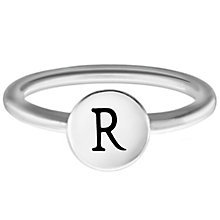 Chamilia Sterling Silver R Alphabet Disc Ring Size P - Product number 4949137