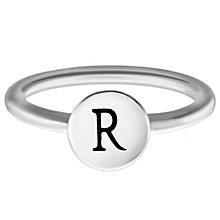 Chamilia Sterling Silver R Alphabet Disc Ring Size R - Product number 4949145