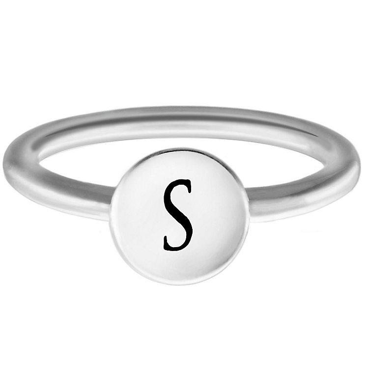 Chamilia Sterling Silver S Alphabet Disc Ring Size L - Product number 4949161
