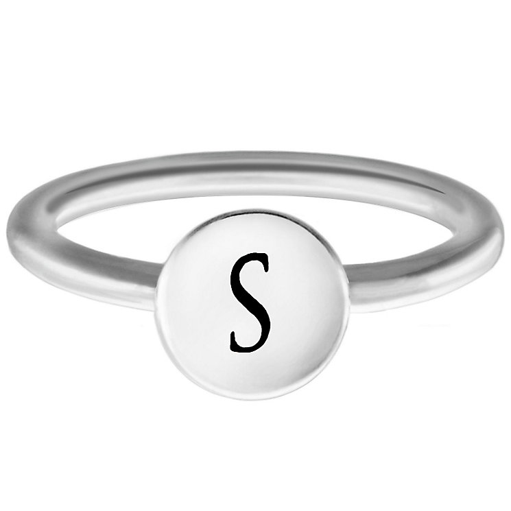 Chamilia Sterling Silver S Alphabet Disc Ring Size N - Product number 4949188
