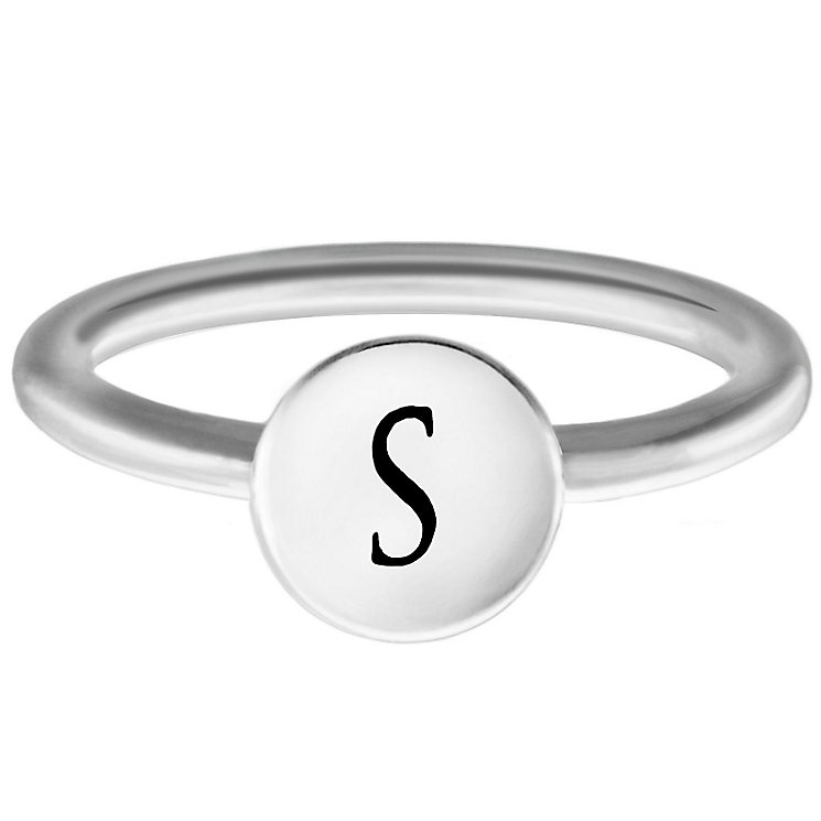 Chamilia Sterling Silver S Alphabet Disc Ring Size P - Product number 4949196