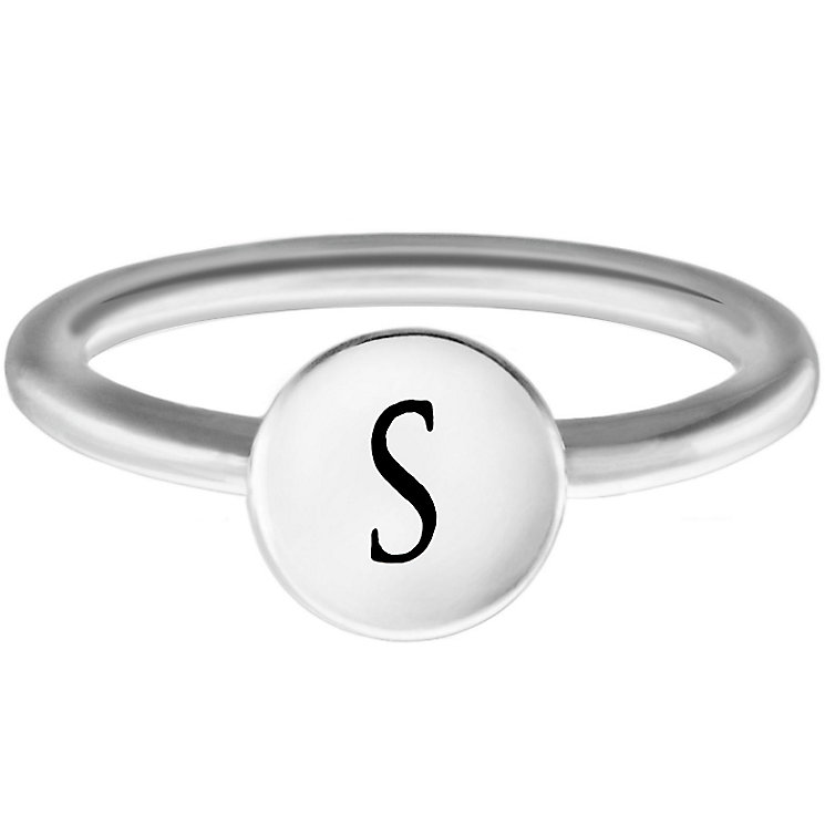 Chamilia Sterling Silver S Alphabet Disc Ring Size R - Product number 4949218