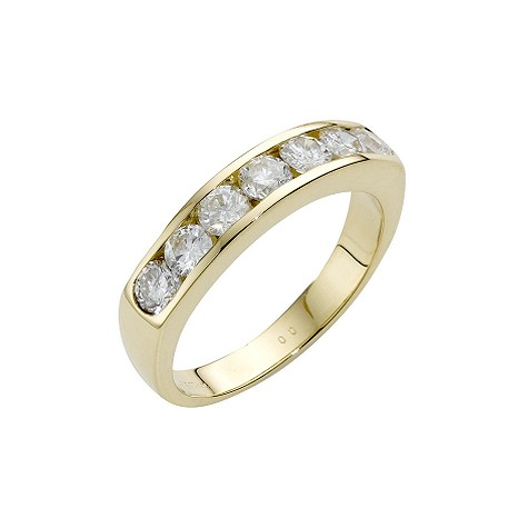 18ct gold one carat diamond half-eternity ring
