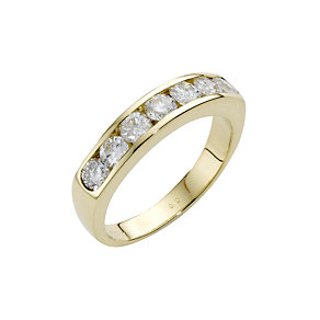 18ct gold one carat diamond half-eternity ring - Product number 4949390