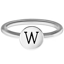 Chamilia Sterling Silver W Alphabet Disc Ring Size L - Product number 4949536