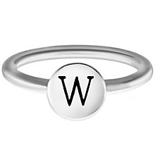 Chamilia Sterling Silver W Alphabet Disc Ring Size R - Product number 4949560