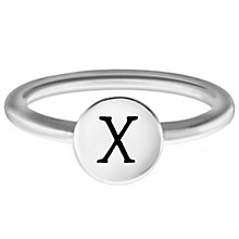 Chamilia Sterling Silver X Alphabet Disc Ring Size L - Product number 4949587