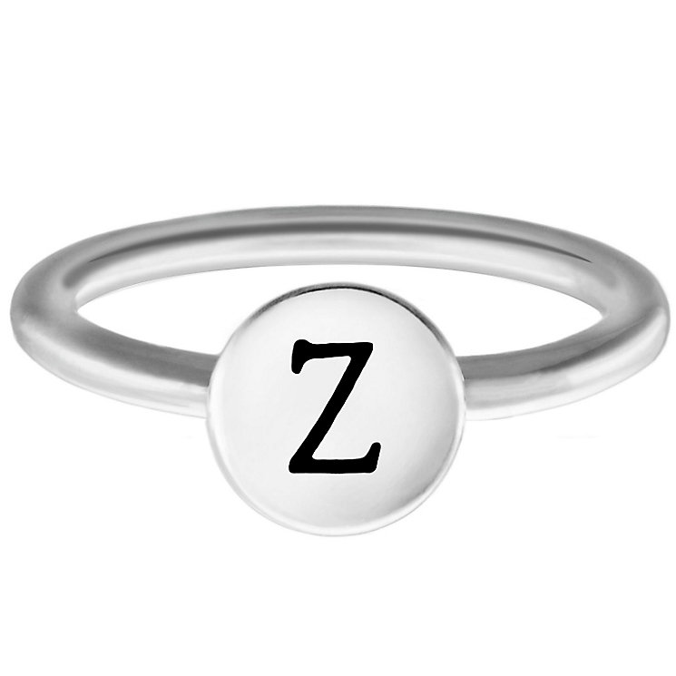 Chamilia Sterling Silver Z Alphabet Disc Ring Size N - Product number 4949706