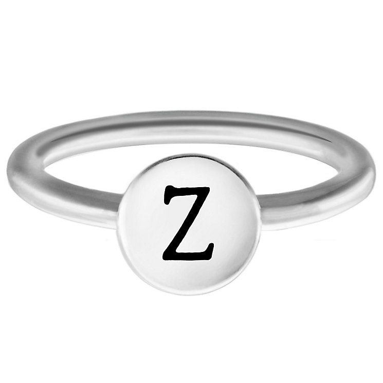 Chamilia Sterling Silver Z Alphabet Disc Ring Size R - Product number 4949722