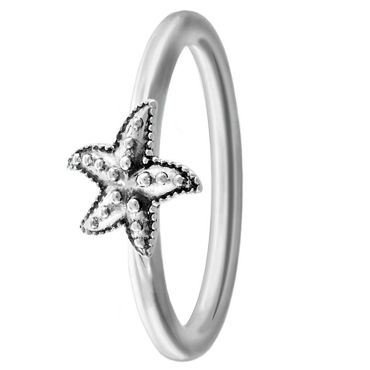 Chamilia Sterling Silver Starfish Ring Size L - Product number 4949803
