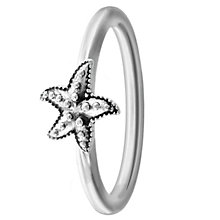 Chamilia Sterling Silver Starfish Ring Size R - Product number 4949846