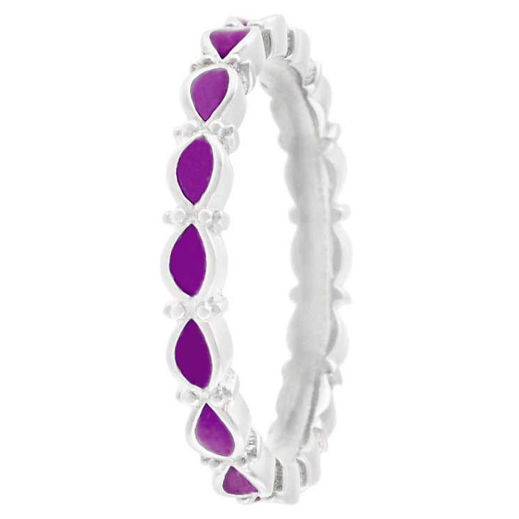 Chamilia Sterling Silver Endless Fuchsia Ring Size J - Product number 4949854