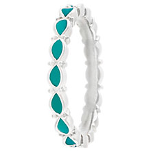 Chamilia Sterling Silver Endless Teal Ring Size P - Product number 4949935