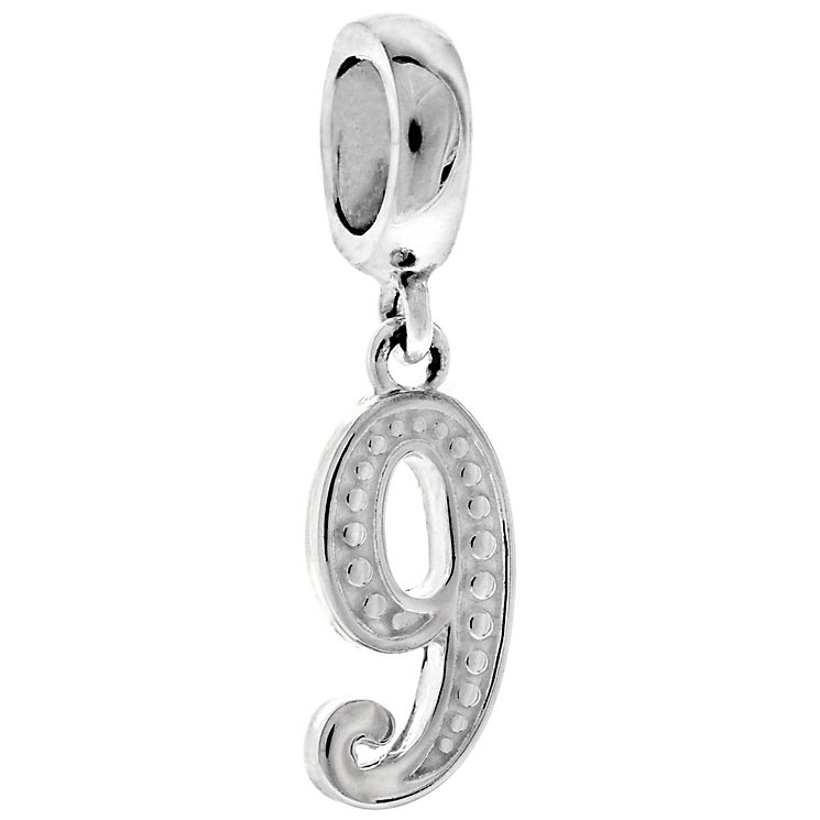 Chamilia Sterling Silver Countdown Number 9 Charm Bead - Product number 4950496