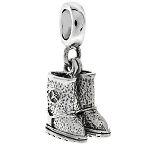 Chamilia Sterling Silver Cozy Soles Charm Bead - Product number 4950542