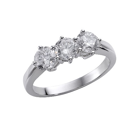 18ct white gold one and a half carat diamond ring