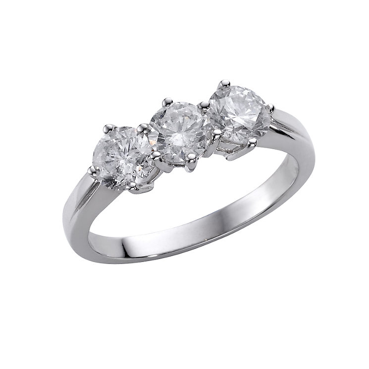 18ct white gold one and a 0.50ct diamond ring - Product number 4951115